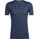 Icebreaker M's Tech Lite SS V Shirt fathom hthr